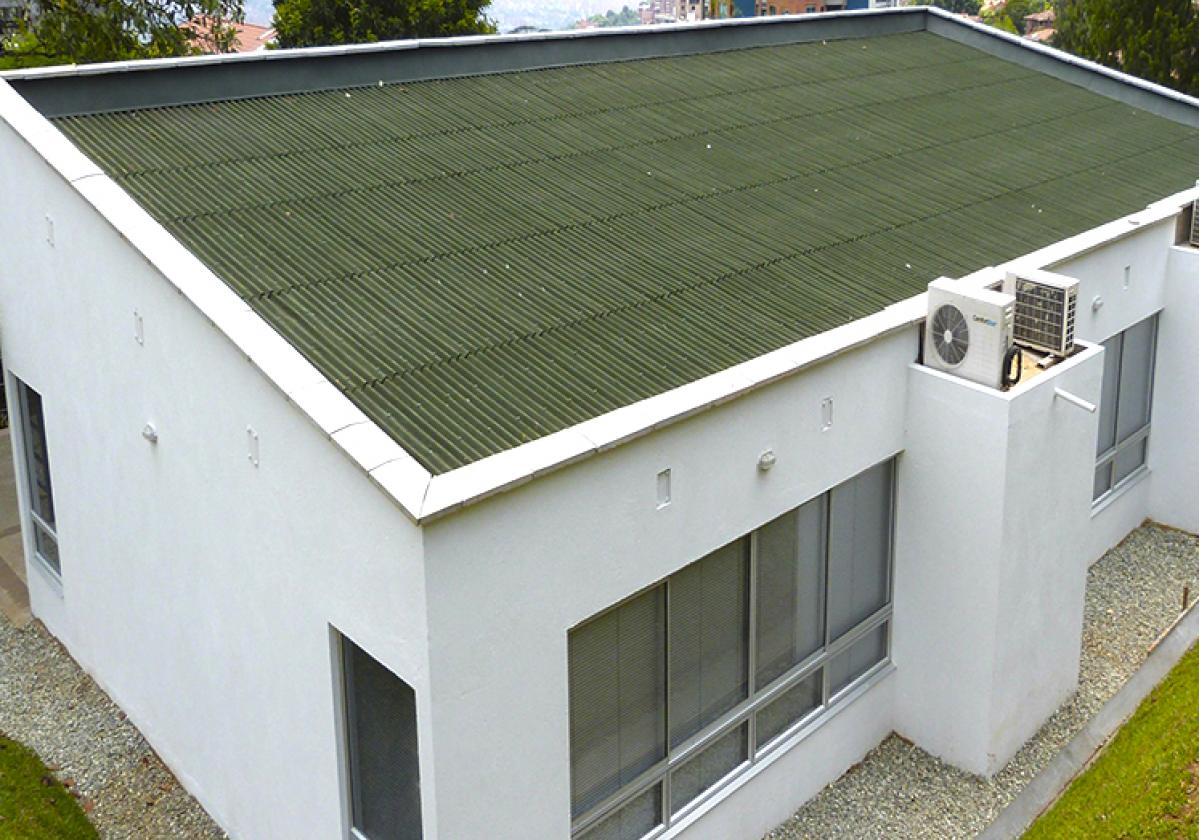Teja Techoline clásica verde oficinas