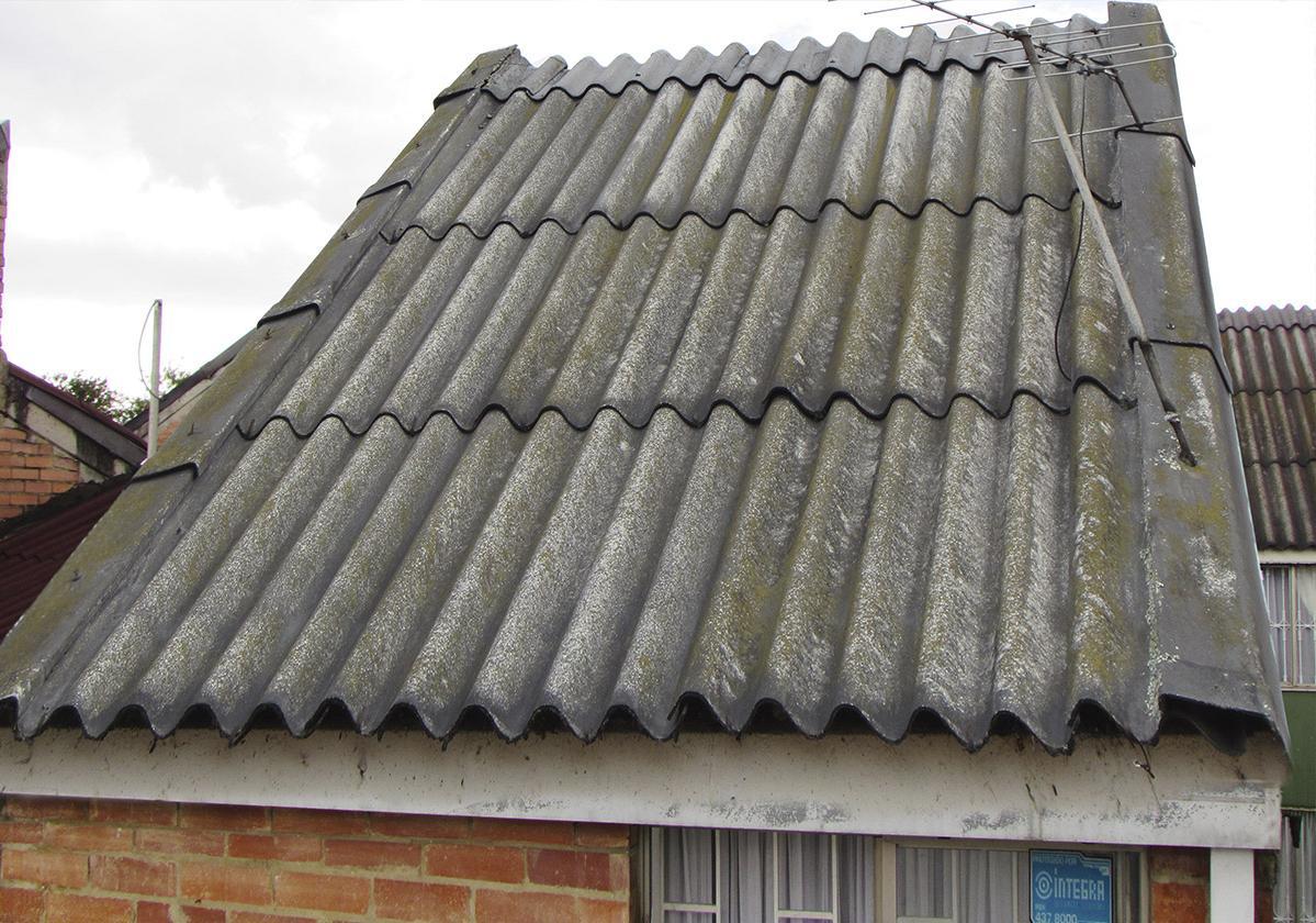Casa sobre techo techoline antes