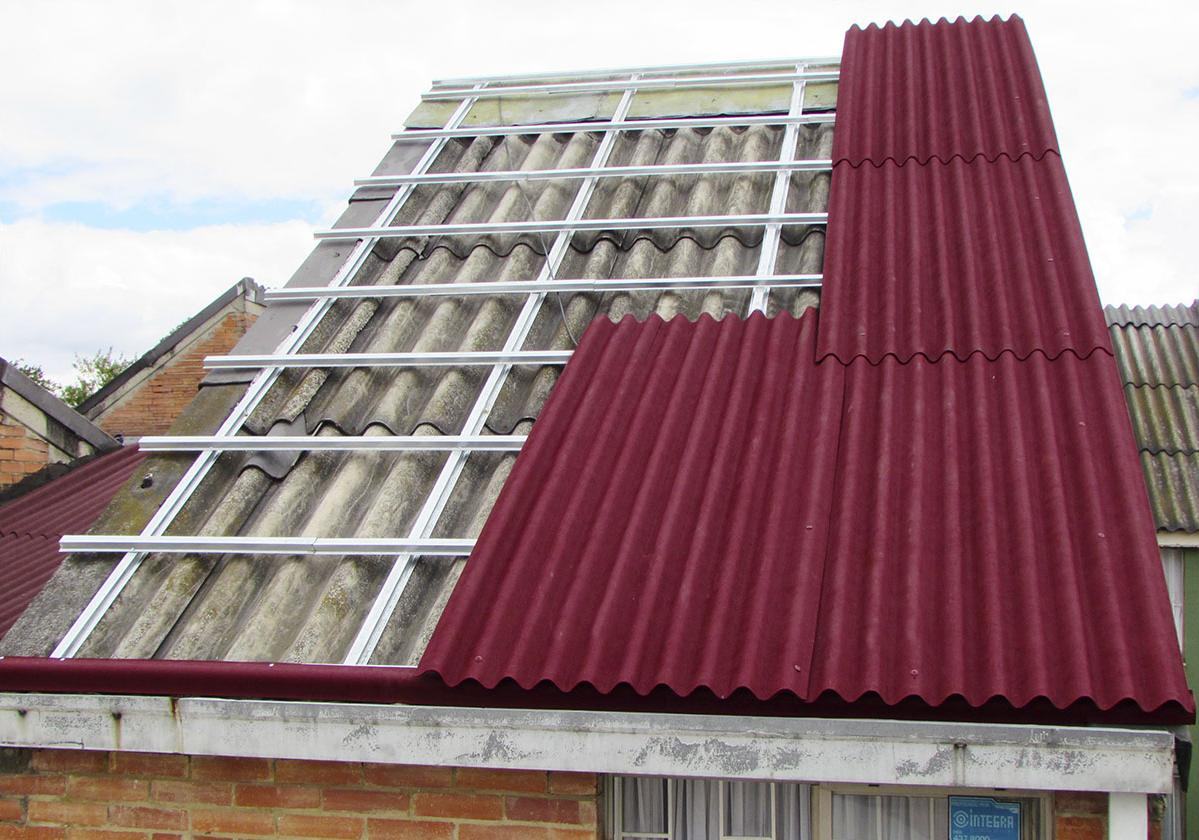 Casa sobre techo techoline durante